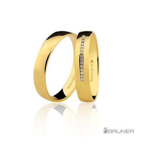 Alianças para casamento em Ouro 18k 0,750 Com Brilhantes