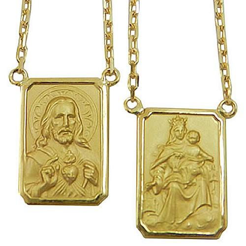Escapulário em Ouro 18K com Corrente Cartier Maciça