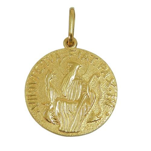 Medalha de São Bento em Ouro 18k Maciça