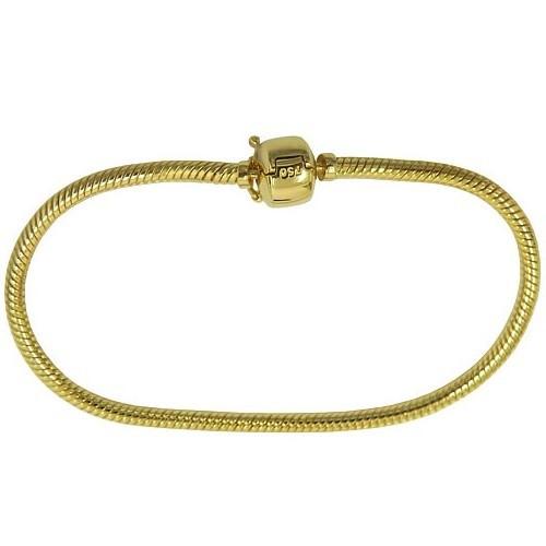 Bracelete estilo Pandora em Ouro 18k Flexível