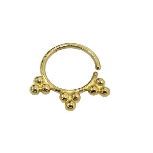 Piercing em Ouro 18k Argola com Bolinhas para Septo