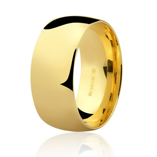 Alianças de Casamento Anatômicas em Ouro 18K 9mm