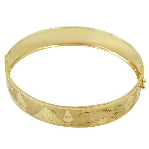 Pulseira Escrava em Ouro com Desenhos Egípcio