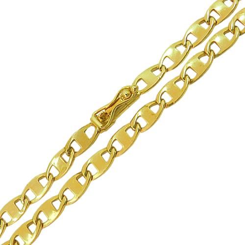 Corrente Masculina Piastrine em Ouro 18K Maciça