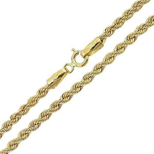 Corrente de ouro masculina corda trancilin