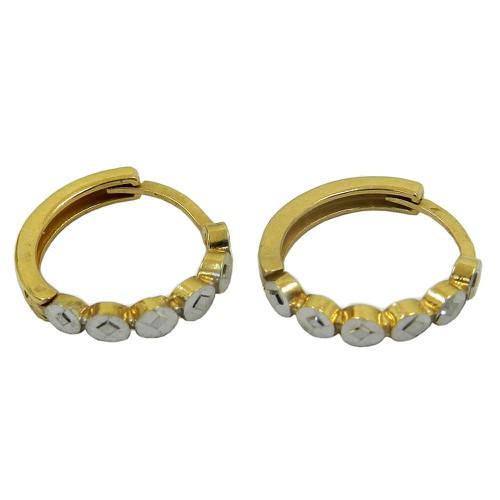 Argola de Ouro Diamantada Sem Pedras