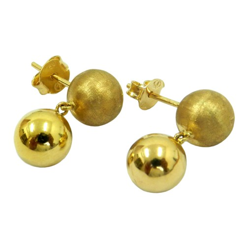 Brinco Bolas de Ouro 18k 8 mm