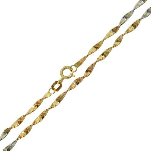 Corrente de Ouro Feminina 3 tons 4.4g