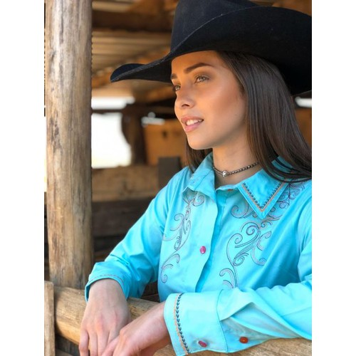 Camisa Feminina M Ranch Western Rodeo Time