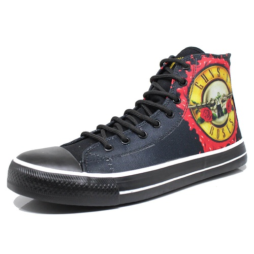Tênis Band Shoes Roses and Arms - guns01 - BANDSHOES
