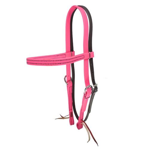 Cabeçada em Borracha com Testeira e Afogador Pink ... - Cavalaria Shop