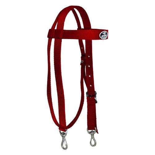 Cabeçada em Nylon com Testeira e Afogador Vermelho - Boots Horse