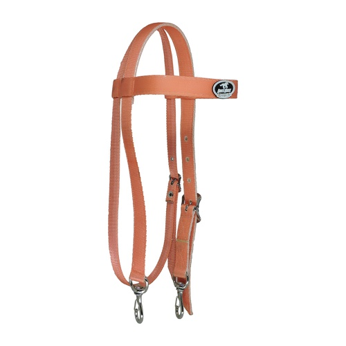 Cabeçada em Nylon com Testeira e Afogador Salmão - Boots Horse