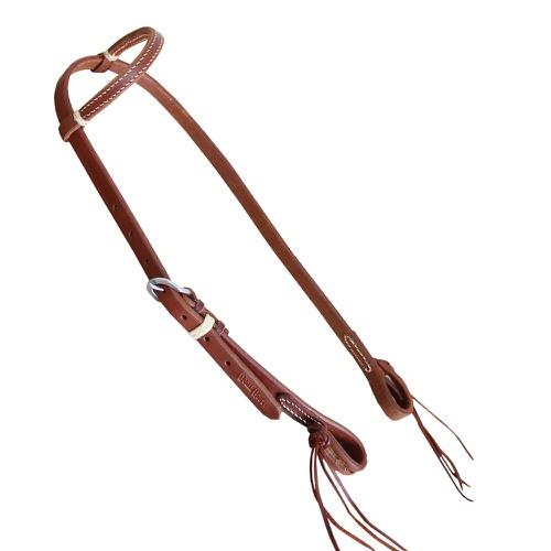 Cabeçada uma Orelha em Couro c/ Enfeite Boots Hors... - Cavalaria Shop