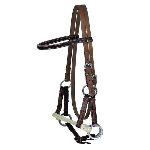 Cabeçada Side Pull de Couro Boots Horse - Cavalaria Shop