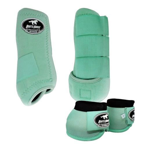 Conjunto Caneleira e Cloche Verde Água - Boots Hor... - Cavalaria Shop