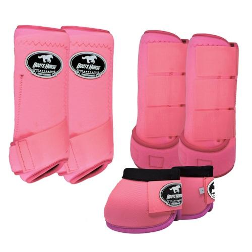 Kit Boots Hose Caneleira e Cloche Completo Rosa
