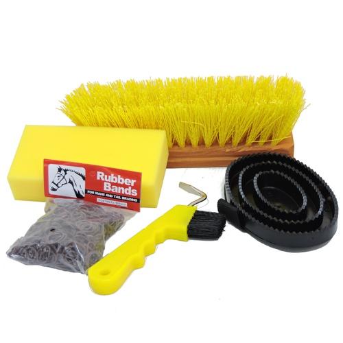 Conjunto de Escovas Importadas para Cavalo Amarelo - Cavalaria Shop