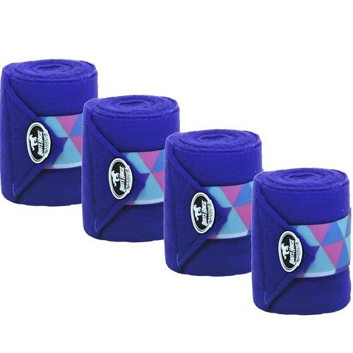 Liga de Descanso Azul Royal c/ Velcro Estampado Bo... - Cavalaria Shop