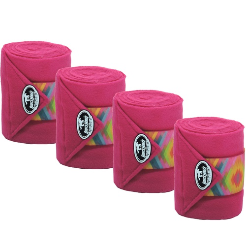 Liga de Descanso Rosa c/ Velcro Estampado Boots Ho... - Cavalaria Shop