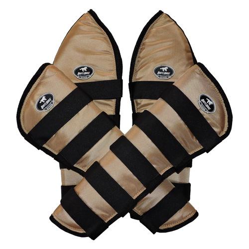 Protetor de Viagem Dourado C/ Velcro Preto - Boots... - Cavalaria Shop