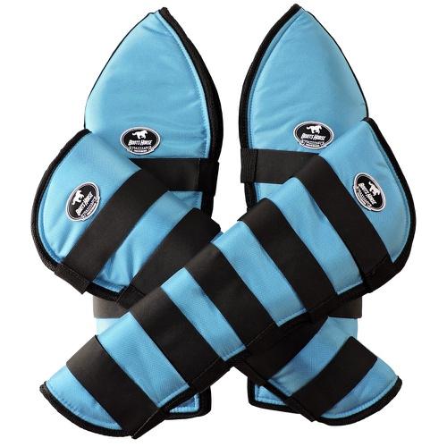 Protetor de Viagem Azul Turquesa c/ Velcro Preto -... - Cavalaria Shop