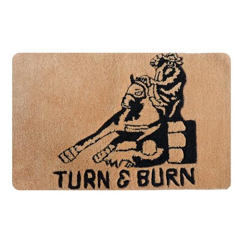 Tapete Capacho Decorativo Turn e Burn - Boots Hors... - Cavalaria Shop
