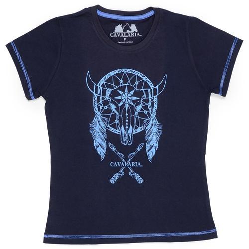 Camiseta Feminina CAVALARIA 100% Algodão Bege