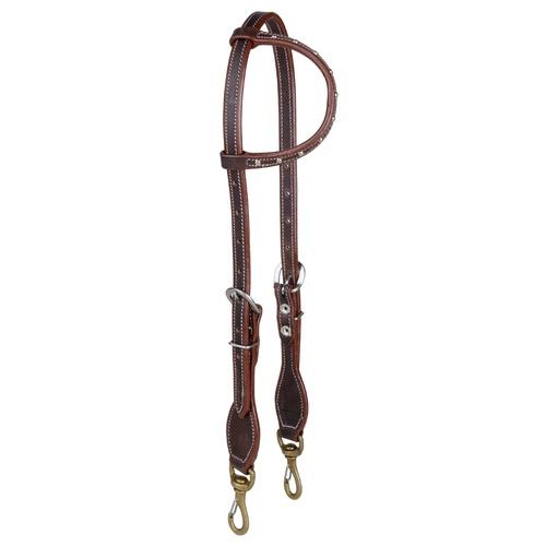 Cabeçada Boots Horse 1 orelha c/ detalhes em rebit... - Cavalaria Shop