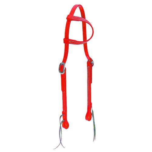 Cabeçada em Borracha 1 orelha Vermelha - Top Equin... - Cavalaria Shop