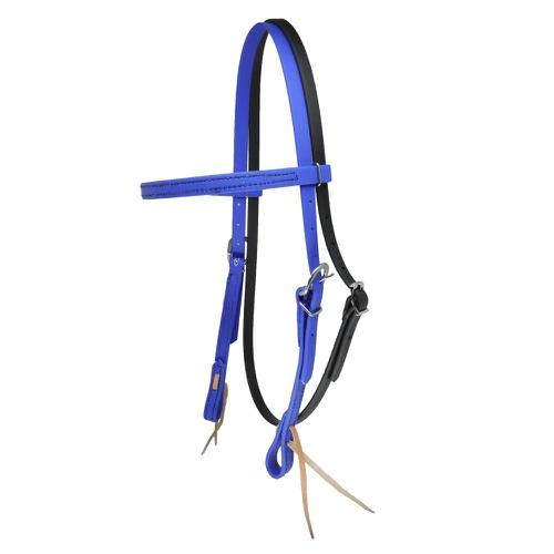 Cabeçada em Borracha com Testeira e Afogador Azul ... - Cavalaria Shop