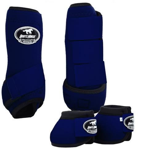 Conjunto Caneleira e Cloche Azul Marinho - Boots H... - Cavalaria Shop