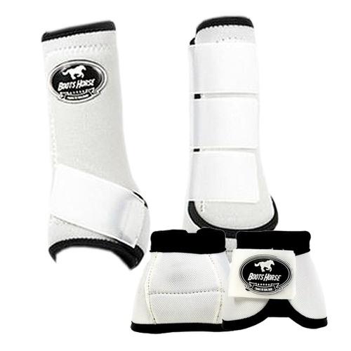 Conjunto Boots Horse Caneleira e Cloche Branco