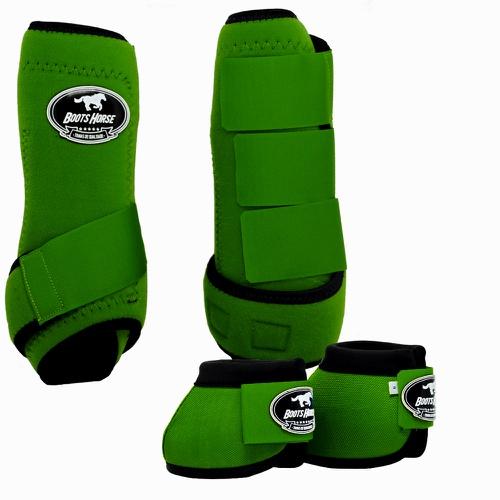 Conjunto Caneleira e Cloche Verde - Boots Horse - Cavalaria Shop