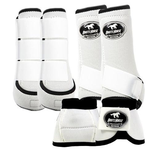 Kit Proteção Branco Completo - Boots Horse - Cavalaria Shop