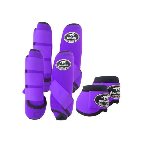 Kit Proteção Roxo Completo - Boots Horse - Cavalaria Shop