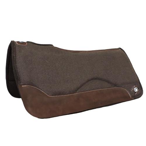 Manta Impacto Pad Boots Horse Feltro Marrom Laço - Cavalaria Shop