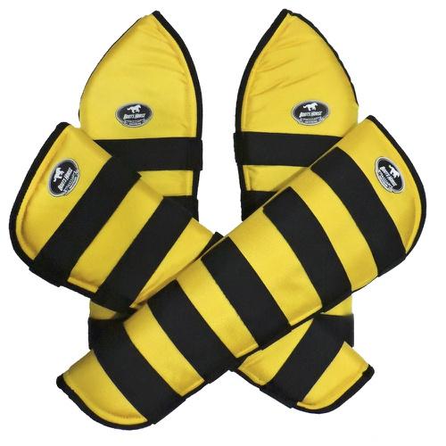 Protetor de Viagem Amarelo C/ Velcro Preto- Boots... - Cavalaria Shop