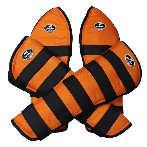 Protetor de Viagem Laranja C/ Velcro Preto - Boots... - Cavalaria Shop