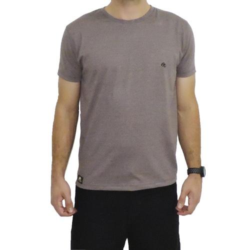 Camiseta CAVALARIA Básica - Marrom Mescla