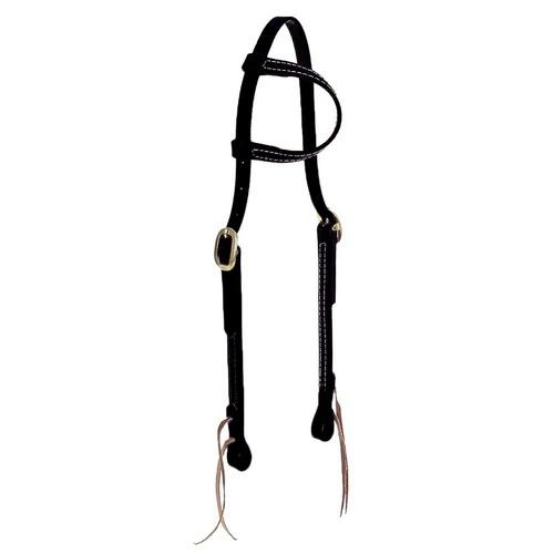 Cabeçada em Borracha 1 orelha Preta - Top Equine - Cavalaria Shop