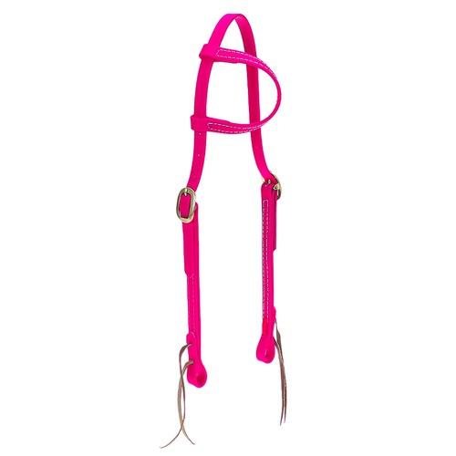 Cabeçada em Borracha 1 orelha Pink - Top Equine - Cavalaria Shop