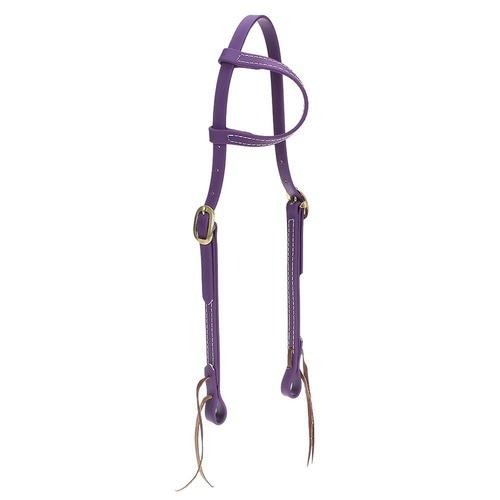 Cabeçada em Borracha 1 orelha Roxa - Top Equine - Cavalaria Shop