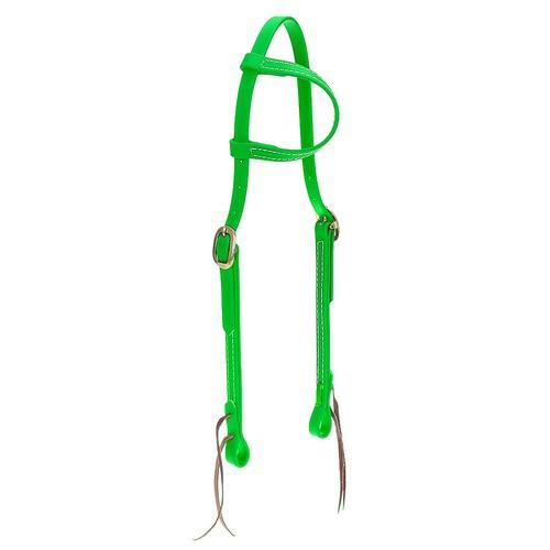 Cabeçada em Borracha 1 orelha Verde Limão - Top Eq... - Cavalaria Shop