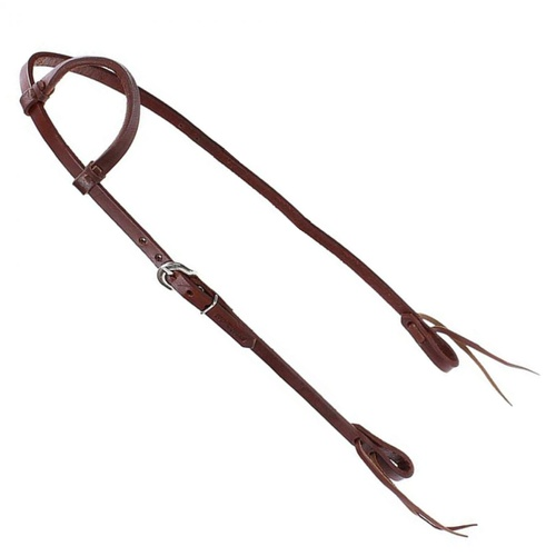 Cabeçada em couro 01 orelha Cavalaria - Cavalaria Shop