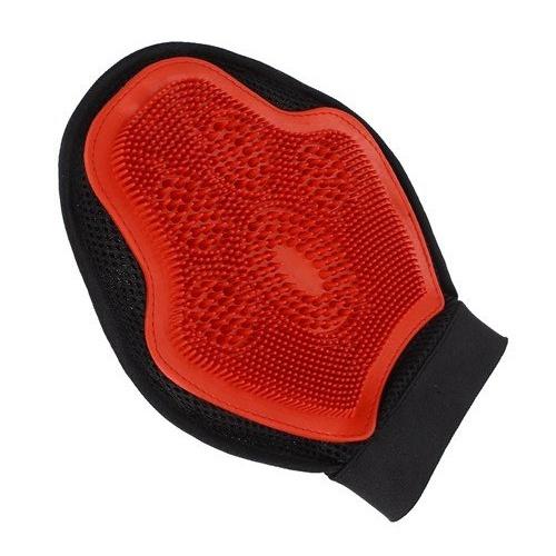 Luva para Banho e Massagem Vermelha Importada - Pa... - Cavalaria Shop