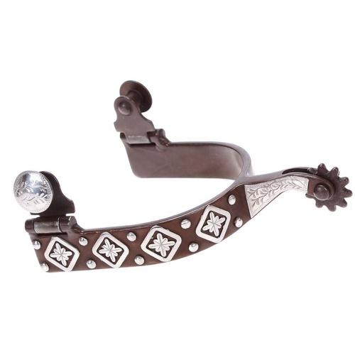 Espora Metalab Antique Diamond Floral Spur Level 2... - Cavalaria Shop