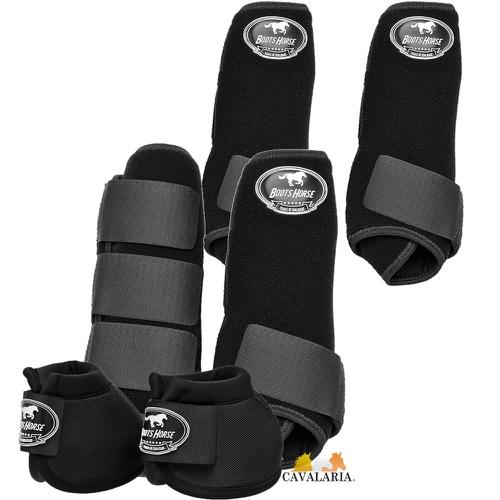 Kit Proteção Preto Completo - Boots Horse - Cavalaria Shop