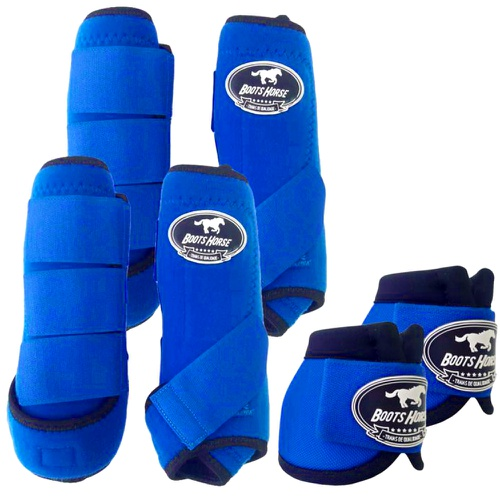 Kit Proteção Azul Royal Completo - Boots Horse - Cavalaria Shop