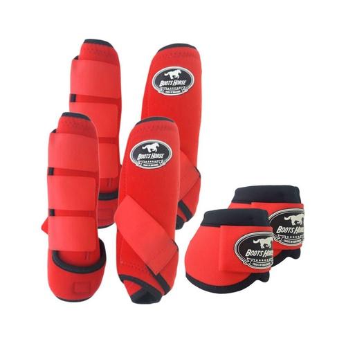 Kit Proteção Vermelho Completo - Boots Horse - Cavalaria Shop
